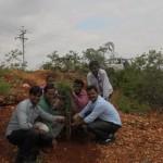 Suzlon Team involved in Plantation